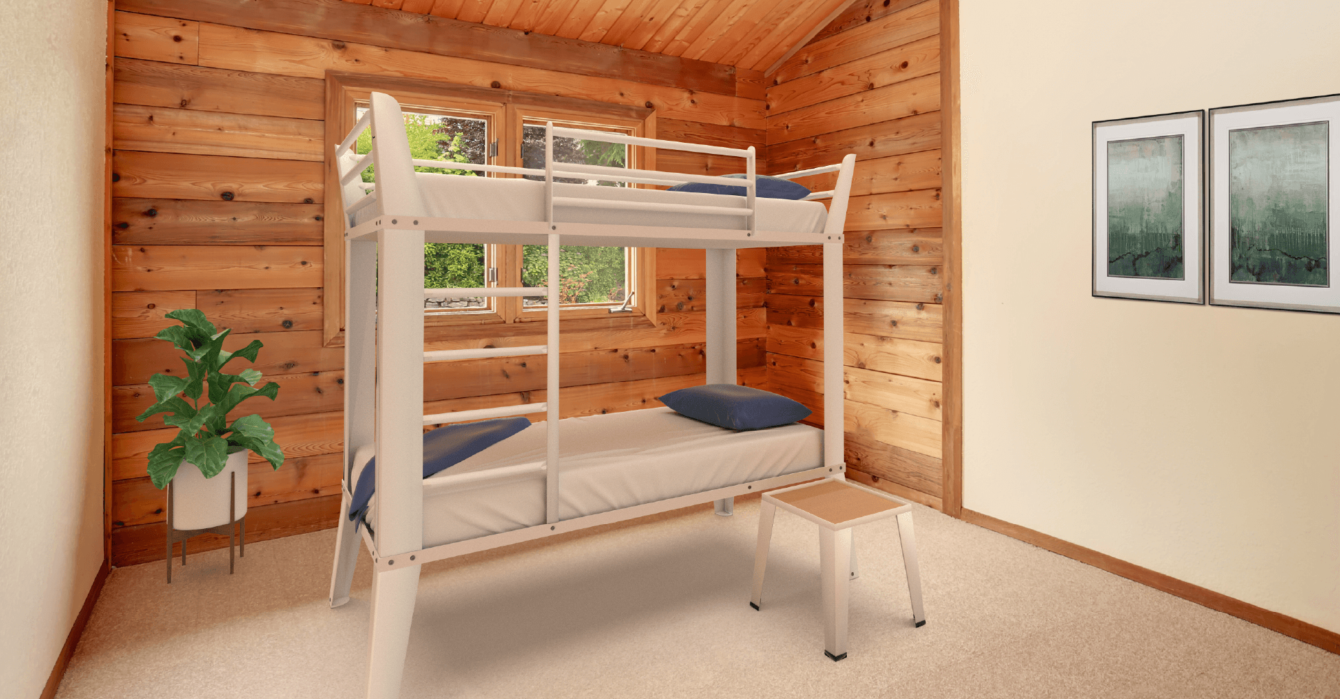 Product shot of central city beds bunk beds in room